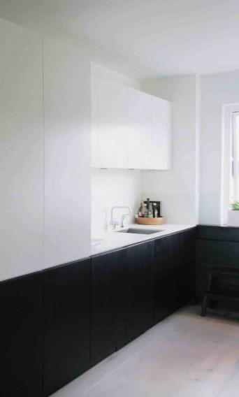 Sort og hvid køkken fra Multiform