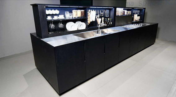 Binova Anima Space køkken i åben tilstand