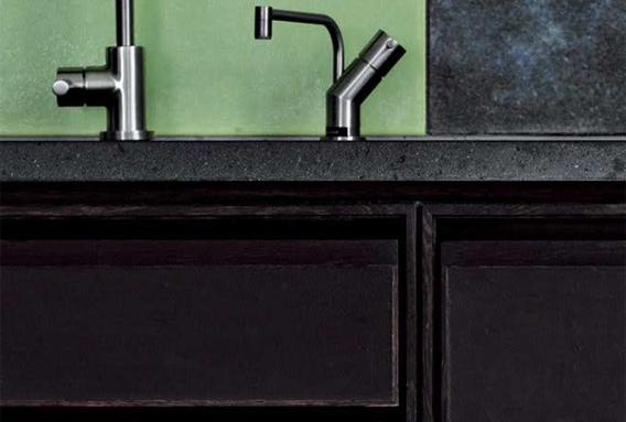 Koch Furesø køkken med læder låger