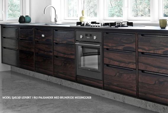 Koch sjælsø køkken i rio palisander