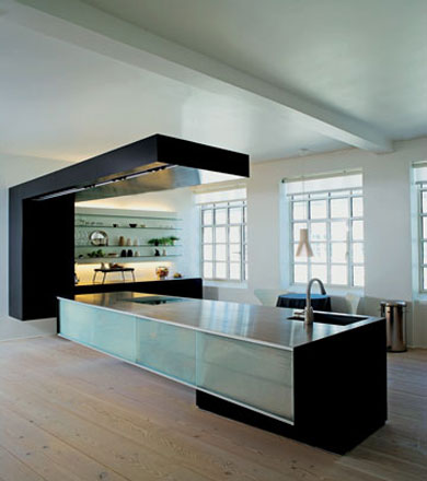 large kitchen interior