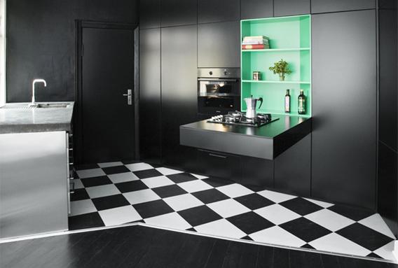 LASC studio køkken bestående af bla. IKEA skabe