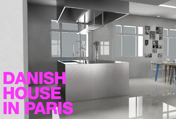 Stål køkken fra Johannes Torpe til et hus i Paris